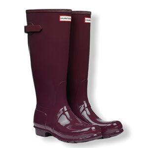 Hunter Original Gloss Tall Rain Boots size 9